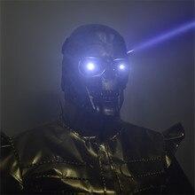 Máscara láser LED cráneo luminoso Casco de Halloween
