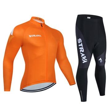 2019 strava outono manga longa camisa de ciclismo conjunto bib calças ropa ciclismo roupas de bicicleta mtb camisa uniforme roupas masculinas 21