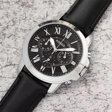 цена на Mens Watches Grant Brand Luxury Quartz Wristwatches Leather Strap Men Wristwatch Clock watches meskie relogio masculino