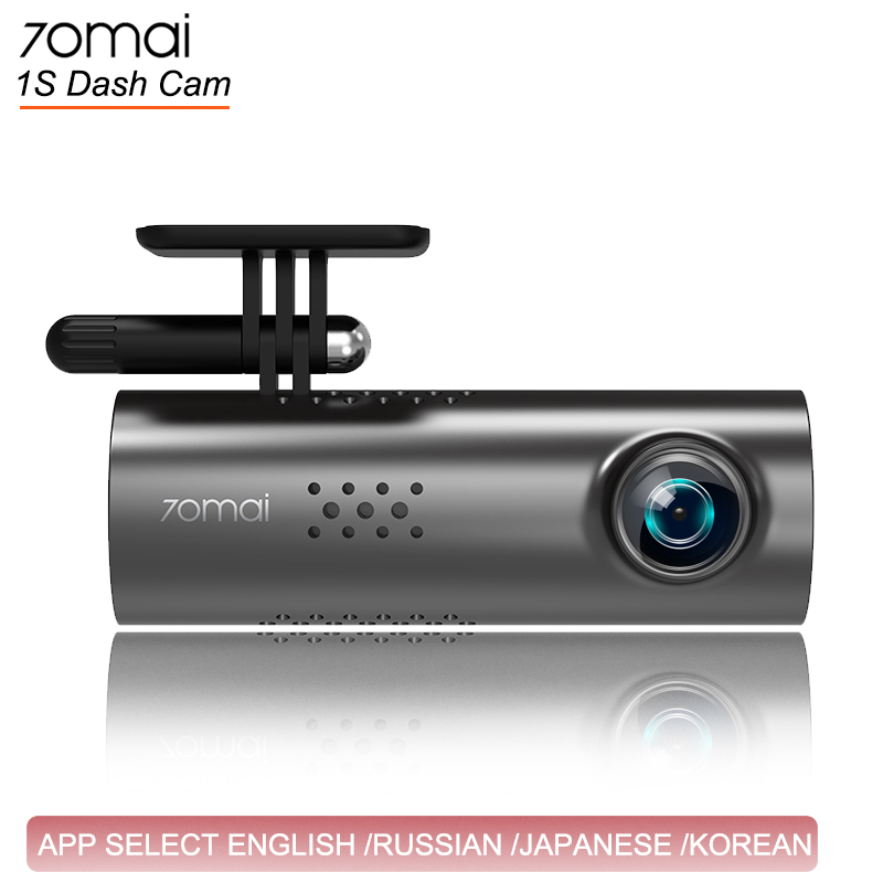 70mai Car Camera 1080HD Night Vision Dashcam WIFI Camera 70 Mai  Dash Cam 1S APP English Voice Control Car DVR