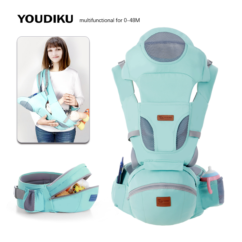 Ergonomic Baby Carrier 0-48M Baby Hipseat Carrier Front Facing Ergonomic Kangaroo Baby Wrap Sling For Baby Travel
