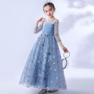 Image 3 - 2020Luxury Exquisite Design Children Girls Sequined Birthday Evening Party Ceremony Princess Prom Dress Kids Host Catwalk Dress