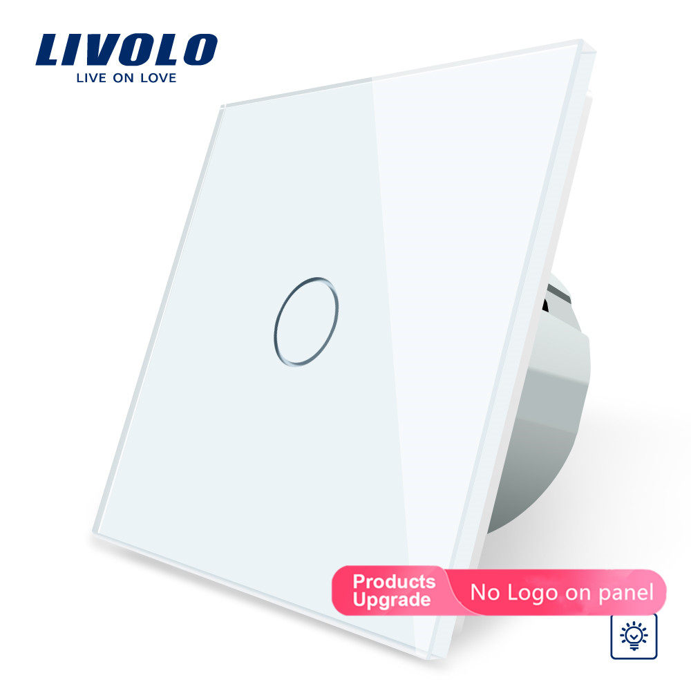 Livolo EU Standard Dimmer Wall Switch,AC 220~250V, Crystal Glass Panel, 1Gang 1 Way Dimmer,VL-C701D-1/2/3/5,no Logo