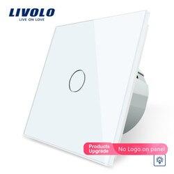 Livolo Eu Standaard Dimmer Muur Schakelaar, Ac 220 ~ 250 V, Crystal Glass Panel, 1Gang 1 Manier Dimmer, VL-C701D-1/2/3/5, Geen Logo