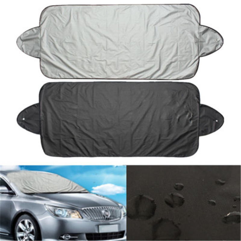 2019 Newest Silver Coated Cloth Waterproof Freedom Full Protect Windshield Cover Car Sunshade Winter Anti-snow  Car Cover