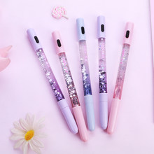 1 teile/satz Luminous flash-stift Starry nacht Gel Pengel stift Konstellation stift kawai schwarz stifte schule Kawaii stylo канцелярия ручка(China)