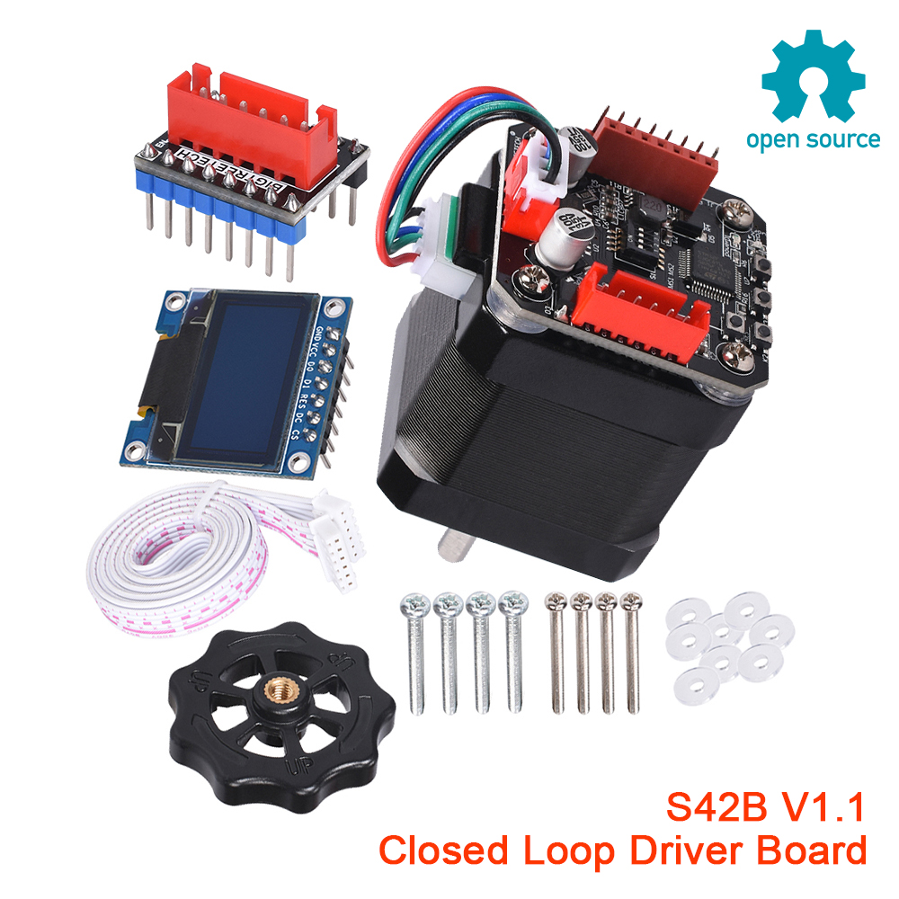 BIGTREETECH S42B V1 1 SERVO42 Closed Loop Driver Control Board 42 Stepper Motor 3D Printer Parts OLED Nema 17 SKR V1 3 V1 4  MKS