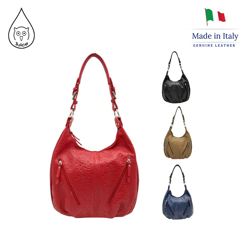 JUICE ,made In Italy, Genuine Leather, Women Bag,Shoulder Bags,addition Long Shoulder Strap 112170.412