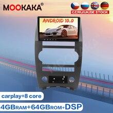 Android 10.0 otomobil radyosu Stereo araba GPS navigasyon için JEEP komutanı 2007 + araba multimedya oynatıcı Tpae kaydedici kafa ünitesi Carplay