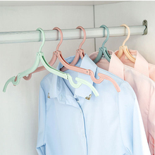 Portable Travel Cloth Folding Hanger Non-Slip Plastic Foldable Rack Drying Clothespin Trouser Coat Towel Sock Closet Storage D40