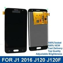 купить For Samsung Galaxy J1 2016 J120 J120F J120H J120M Phone LCD Display Touch Screen Digitizer Assembly with Brightness Control дешево