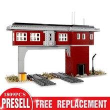 Tower-Station-Set Bricks Toys Train Model Building-Blocks Mould King Railway-Signal High-Tech