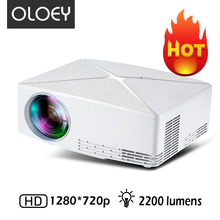 цена на OLOEY C80 New Year mini full HD projector 1280x720p for 1080p 2200 lumens LED smart idea portable beamer for home theater