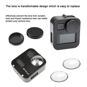 Image 3 - PULUZ Housing Shell Case Cover CNC Aluminum Alloy Protective Cage For GoPro Max &  Lens cap