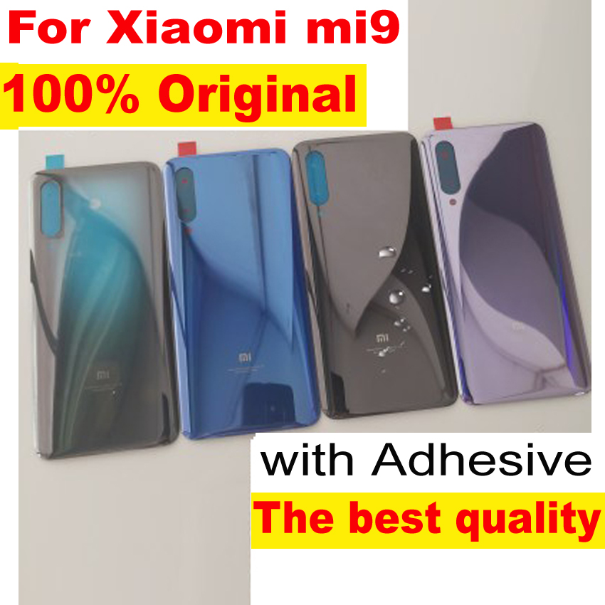 100% Original Glass For xiaomi 9 mi 9 MI9 CC9E MiA3 Back Cover Back Door Replacement Hard Battery Case Rear Housing Lid Explorer