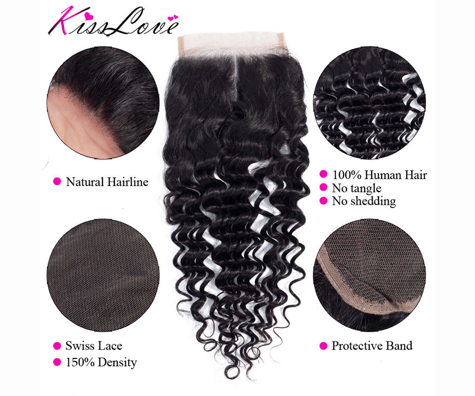 Hc85b157d03554f088931d5b8ff478ac41 Kiss Love Brazilian Hair Deep Wave Bundles With Closure Human Hair Weave Bundles With Closure 3 Bundles With Lace Closure