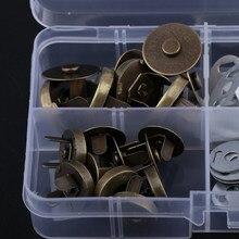 20 conjuntos de fecho magnético snaps botão ímã diy costura botão ofício 14mm 18mm
