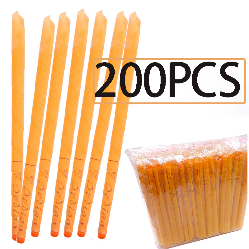 10-200Pcs Ear Candle Wax Removal Tool Ear Cleaner Ear Candle Beeswax Good Product Hopi Ear Wax Indian Coning Fragrance Cleaning