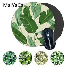 Maiyaca Baru Desain Daun Pisang Game Komputer Bulat Mousemats Mousepad Gaming Karpet untuk PC Laptop Notebook Gaming Mouse Pad(China)