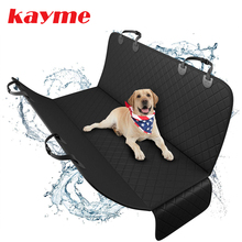 Kayme Dog Car Seat Cover,Waterproof Anti dirty Rear Back Seat Mat ,Pet Carriers Protector Hammock Cushion With Safety Belt