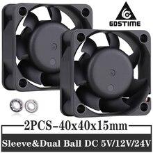 2PCS Gdstime 40mm DC 5V 12V 24V 4015 40X40X15mm hülse/Dual ball Kühler Fan DC Bürstenlosen Kleinen 4cm Kühl axiale Fan