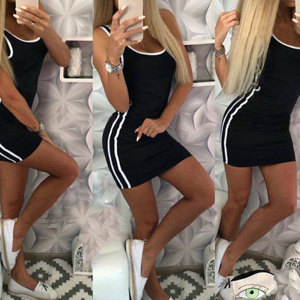 DANALA2020 New Sexy Women Summer Dress Bandage Bodycon Sleeveless Evening Party Club Short Mini Dress 2019 Fashion Women Clothes