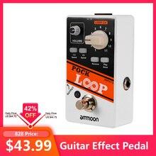 Ammoon אבעבועות לולאה Looper גיטרה אפקט דוושת 11 Loopers Max.330mins הקלטת זמן תומך 1/2 & 2X מהירות הפוך מעקף אמיתי