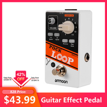 ammoon POCK LOOP Looper Guitar Effect Pedal 11 Loopers Max.330mins Recording Time Supports 1/2 & 2X Speed Reverse True Bypass