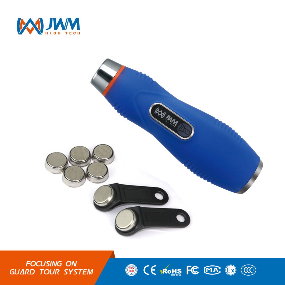 JWM Waterproof IP67 Durable Flashlight Touch Guard Tour Patrol System, Security Patrol Wand,Guard Tour Reader With Free Software