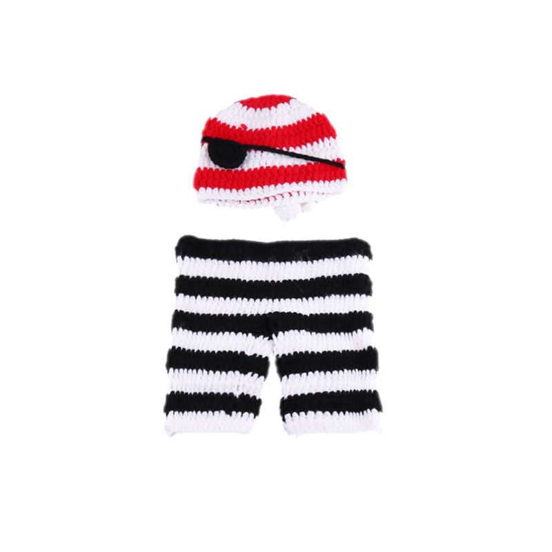 Newborn Baby Infant Photography Props Boys Girls Outfits Soft Crochet Clothes K1KC