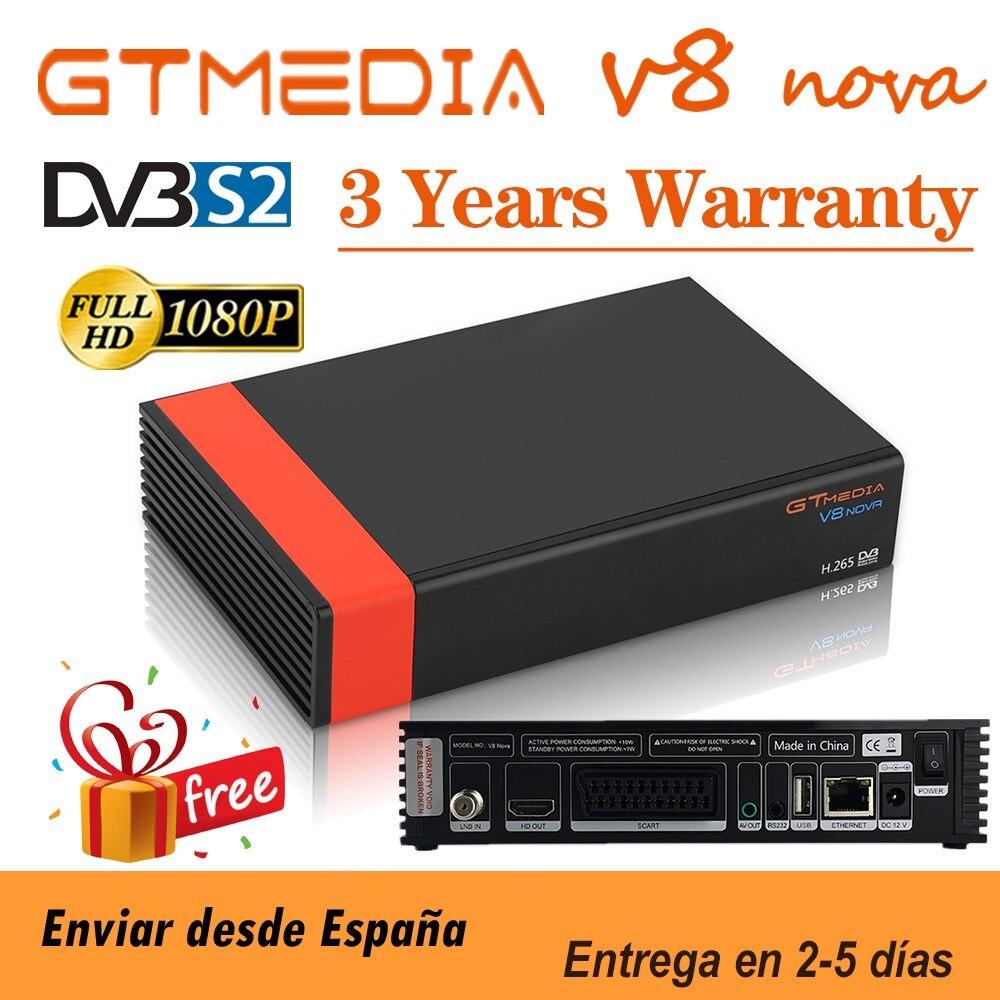 Hd completo gtmedia v8 nova DVB-S2 receptor de satélite h.265 construído em wifi gtmedia v8x atualização de gtmedia v8 honra v9 super nenhum aplicativo
