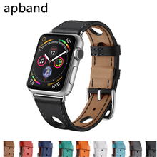 Leather Single Tour strap For Apple Watch band apple watch 5 4 3 2 1 band 44mm 40mm iwatch band 42mm 38mm bracelet Accessories strap for apple watch band 4 44mm 40mm correa iwatch 42mm 38mm 3 2 1 leather double tour bracelet apple watch 4 accessories