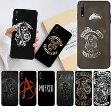 NBDRUICAI Fashion Sons of Anarchy Black Soft Shell Phone Case Capa for Huawei Honor 20 10 9 8 8x 8c 9x 7c 7a  Lite view pro red black star sons of anarchy reaper bandeau side tie bikini