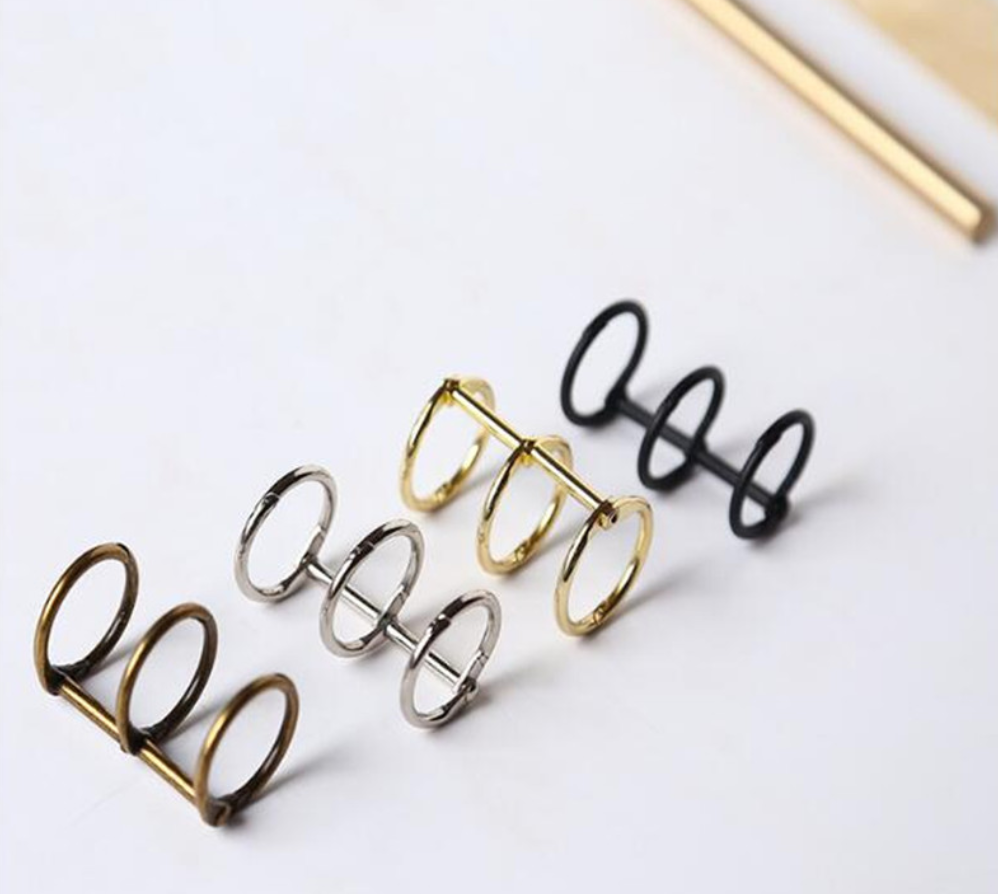 2pcs Metal A5/A6/A7 Loose Leaf Book Binder Rings Album Scrapbook Clips Craft Photo Ring Binder Stationery Office Supplies Cute