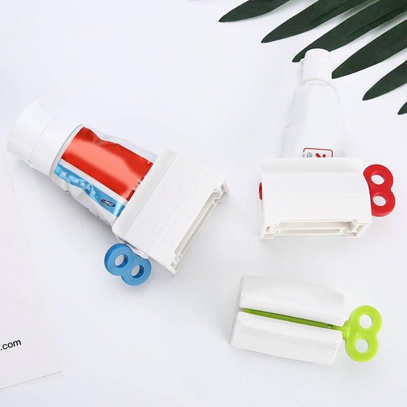 1pc Multifunction Toothpaste Tube Squeezer Toothpaste Squeezer Easy Portable Plastic Dispenser Bathroom Accessories Sets