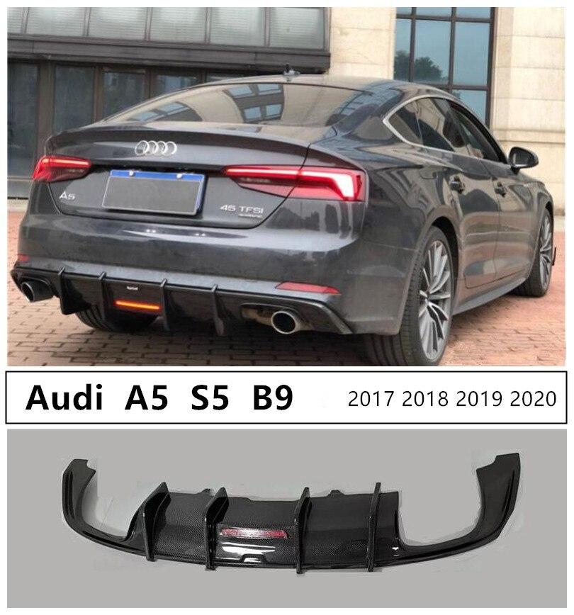 アウディ A5 S5 B9 2017 2018 2019 2020 カーボンファイバーリアリップスポイラー高品質バンパーディフューザー自動車の付属品