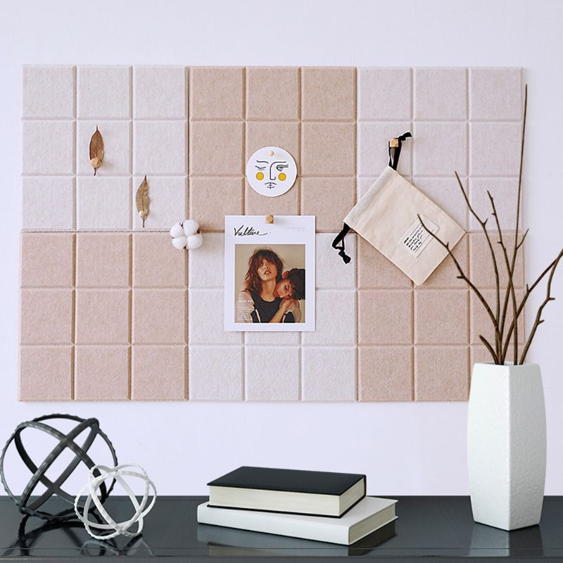 2020 New Nordic Style Felt Background Letter Board Photo Wall Household Message Display