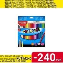 Набор цветных карандашей MAPED Color Peps, 24 цвета, трехгранные