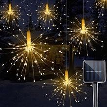 Solar Light 120LED/150LED  Creative fireworks light Wedding String dandelion lawn lights / grassoutdoor waterproof solar garden Lamp Multicolor Landscape