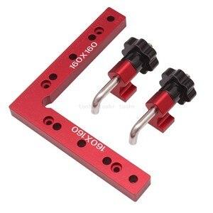 Image 4 - Houtbewerking 90 graden L vormige extra armatuur Aluminium vierkante Positionering heerser meten gauge hout timmerman DIY gereedschap