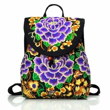 MYT_0249 Women Backpack Embroidered bag embroidery shoulder bag original embroidered bag for women Parent-child backpack embroidered detail backpack with bear charm 4pcs