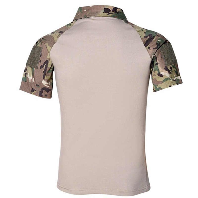 ZOGAA カジュアル男性ミリタリースタイルシャツ Pacthwork ポケットスリムフィット男性シャツ半袖カーキディープグレーアーミーグリーンため男性