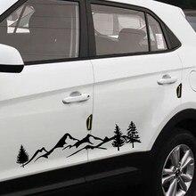 Autocollant décoratif de voiture de montagne pour animaux de compagnie, étiquette décorative pour SUV, camping-Car, accessoires de décoration pour automobiles imperméables