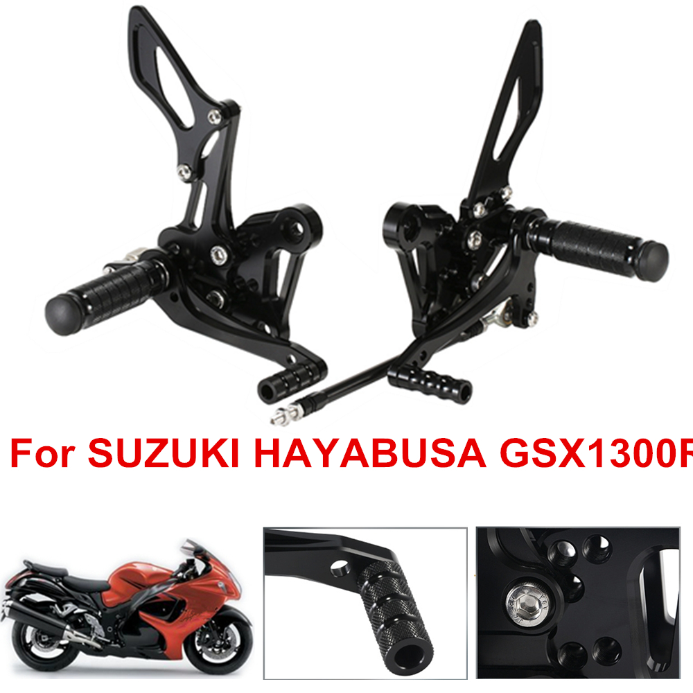 GZYF Rear Footrests Foot Pegs for Suzuki Hayabusa GSX1300R 2008-2012