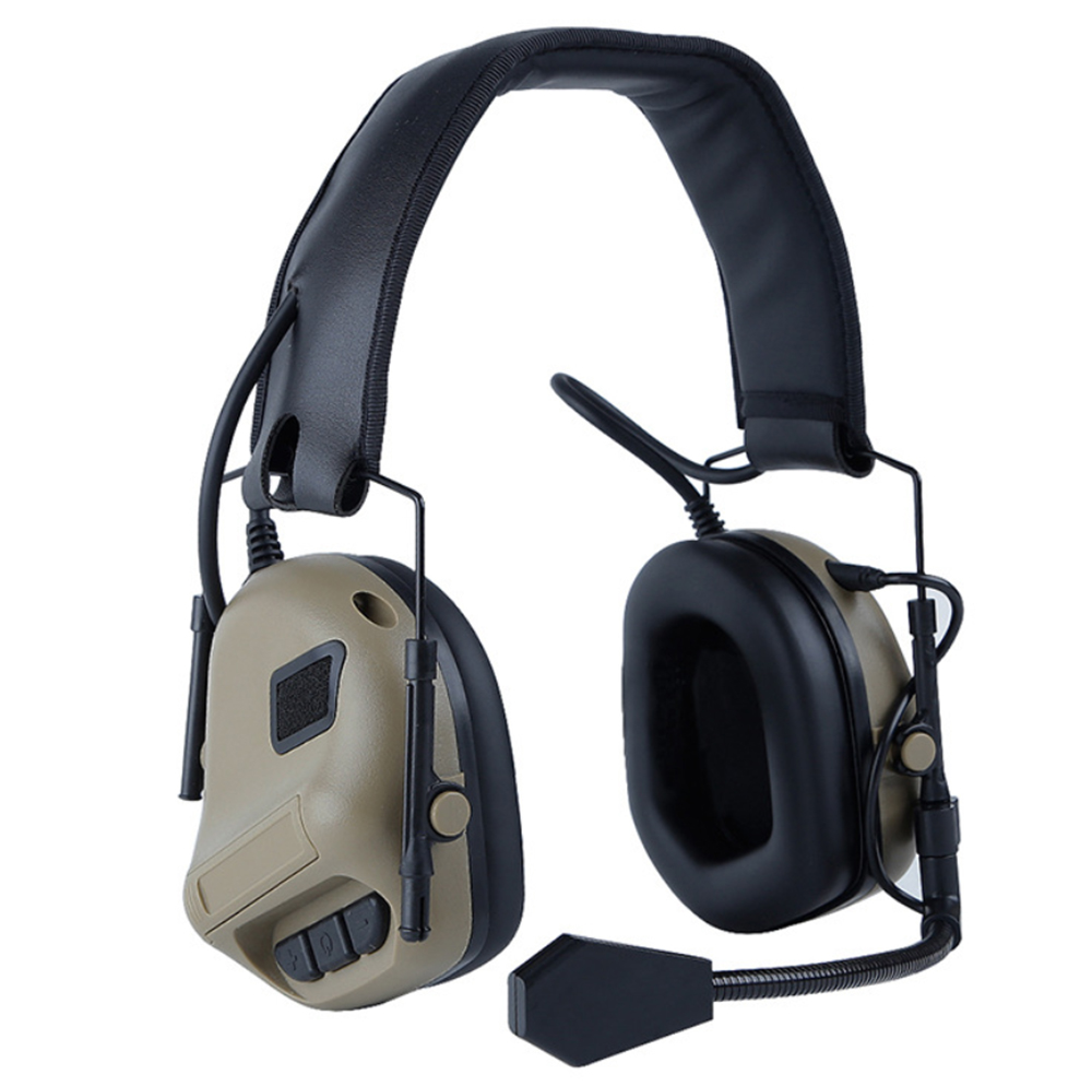 fone de Ouvido Com Cancelamento de Ruído de Tiro Militar 3 Cores