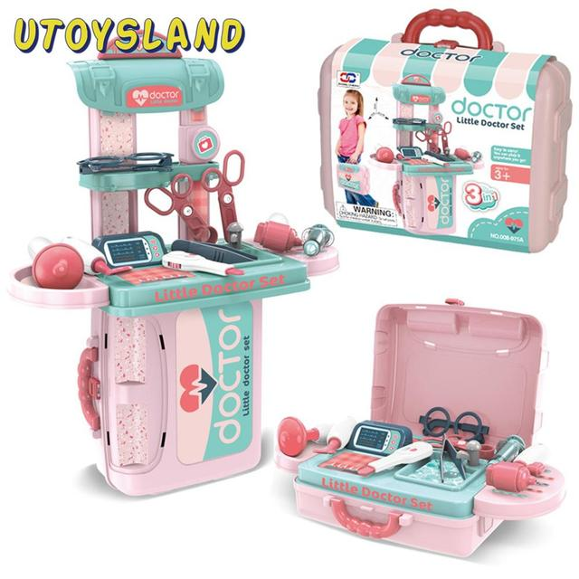12Pcs Children Doctor Pretend Play Simulation Medical Toys With Suitcase Brain Toy For Children Educational Toys Birthday Gift