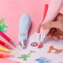 Painting Airbrush Electric Hand Drawn Pen Set Washable Color Spray Set Home School Supplies 12 Color Colored Art for Kids