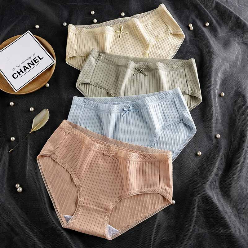 Wavaiov Menstrual Panties Women Underwear Cotton Sexy Intimates Leak Proof Physiology Briefs Ma'am Period Underpants Lingerie