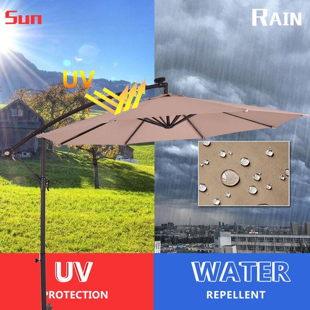 Costway 10' Hanging Sun Patio Umbrella  5