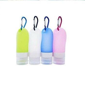 60ml botella de viaje botella con llavero desinfectante llavero de Gel botella Gel hidroalcohólico viaje recargable latas para desinfectante Gel